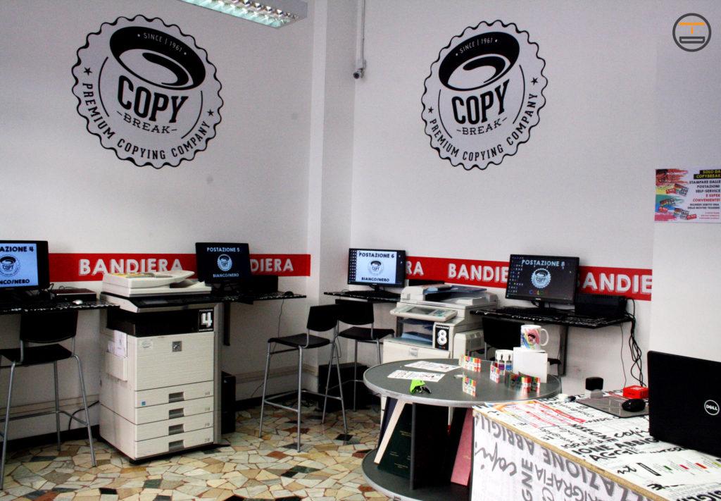 Insegna Distanziata e a Bandiera per CopyBreak