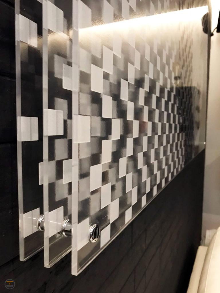 Quadro Plexiglass tre strati distanziato Jim Morrison