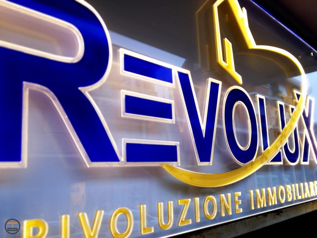 Insegna Plexiglass Illuminata Led Revolux