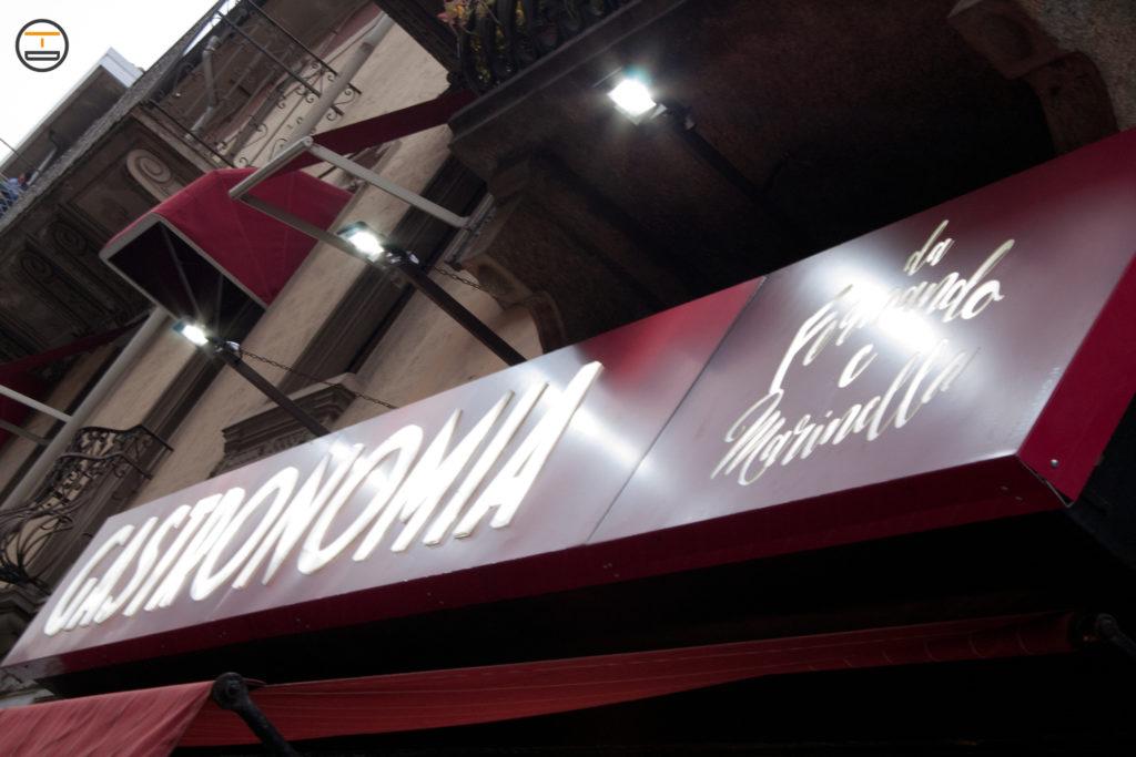 Insegna a Torino Retroilluminata 3D Gastronomia