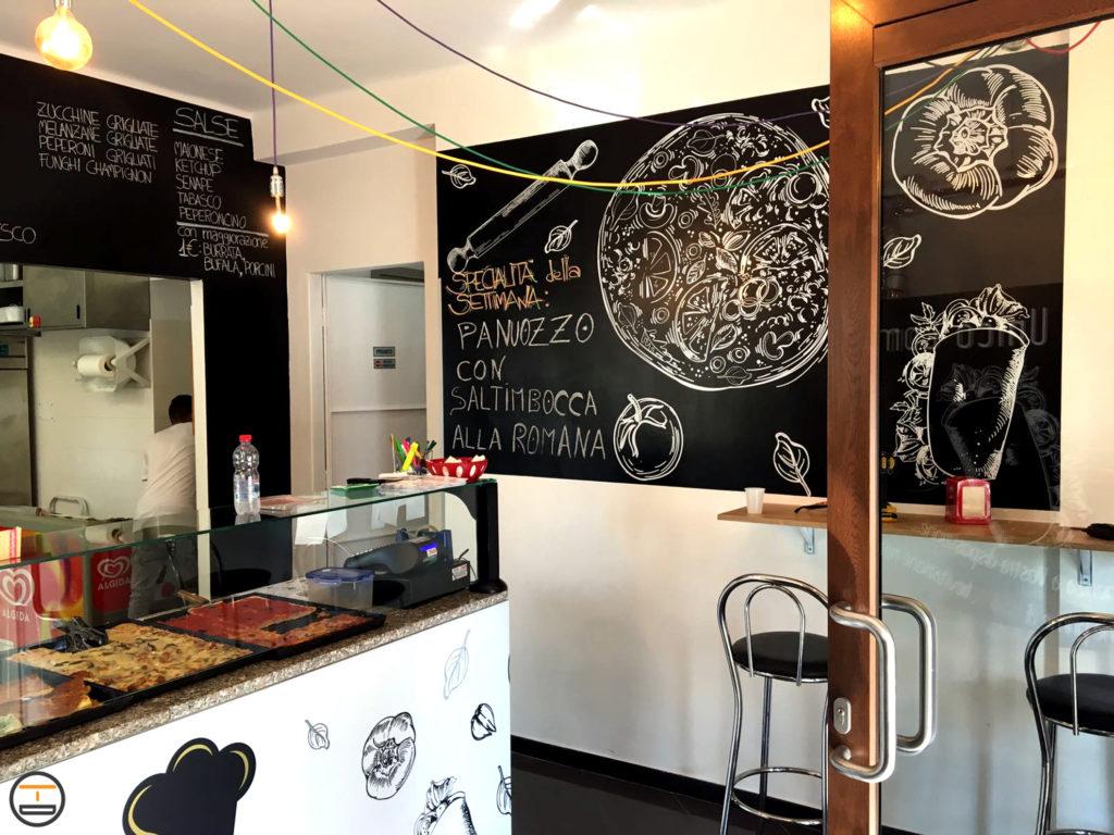 Interior Design Pizzeria con logo, insegne e sito web